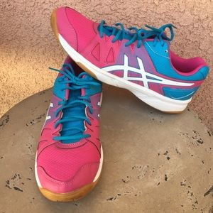 Asics Gel Upfront Sneakers Sz 11 Blue Pink White